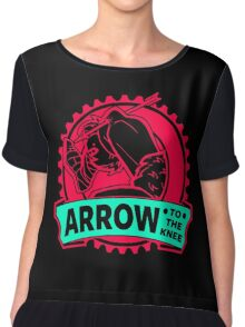 An Arrow In The Knee Chiffon Top