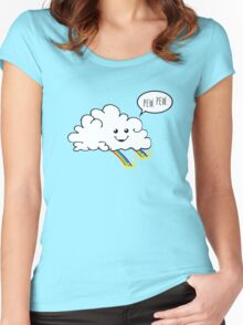 Friendly Cloud : Why there's a pot of gold at the end of every rainbow Women's Fitted Scoop T-Shirt
