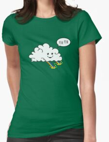 Friendly Cloud : Why there's a pot of gold at the end of every rainbow Womens Fitted T-Shirt