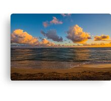 Golden Street Clouds Canvas Print