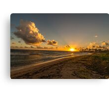 Sunrise Over Caribbean Sea Canvas Print