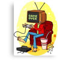TV game head Canvas Print