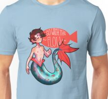 Go With The Flow Merman Unisex T-Shirt
