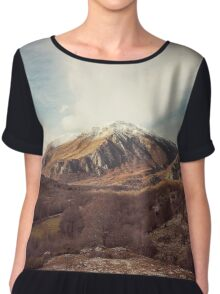 Mountains in the background XVII Chiffon Top