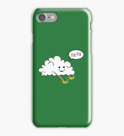 Friendly Cloud : Why there's a pot of gold at the end of every rainbow iPhone Case/Skin