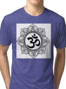 Mandala with Om Symbol Tri-blend T-Shirt
