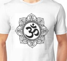 Mandala with Om Symbol Unisex T-Shirt