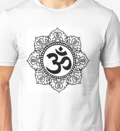 Mandala with Om Symbol Unisex T-Shirt