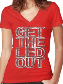 Get The Led Out Women's Fitted V-Neck T-Shirt