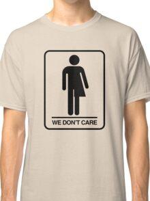 Trans Bathroom Symbol Classic T-Shirt