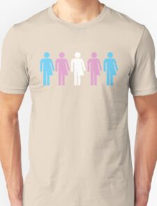 Trans Pride Figures Unisex T-Shirt