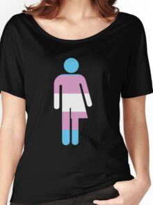 Trans Stick Pride Figure Women's Relaxed Fit T-Shirt