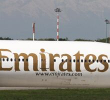 Emirates Airlines, Boeing 777-300 at Linate airport, Milan, Italy  Sticker