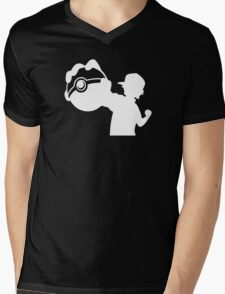 Ash Pokemon Ketchum Mens V-Neck T-Shirt