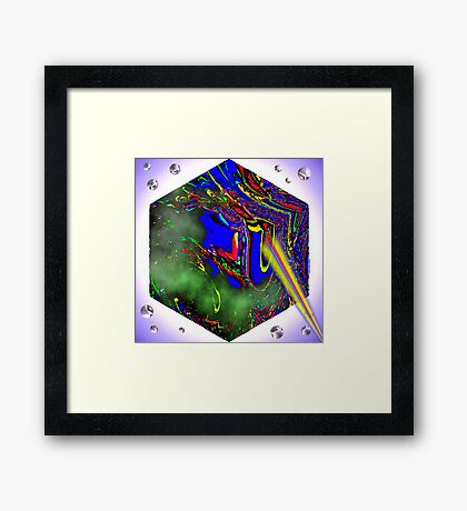 Bubble Zapper Framed Print