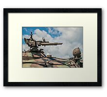 Battle Tank Machine Gun Framed Print