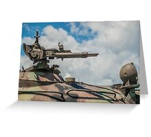 Battle Tank Machine Gun Greeting Card