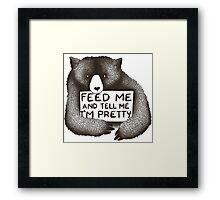 Feed me  Framed Print