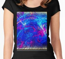 Abstract #16 Women's Fitted Scoop T-Shirt