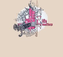 Life matters with pistol, dove and florals Unisex T-Shirt