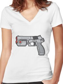 PS1 Namco GameCon Controller  Women's Fitted V-Neck T-Shirt