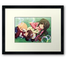 Ushio And Nagisa Bubble Framed Print