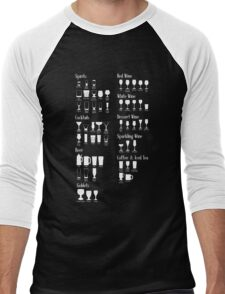 Which Glass To Use Infographic Men's Baseball ¾ T-Shirt