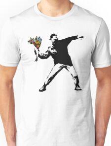 Banksy - Rage, Flower Thrower Unisex T-Shirt