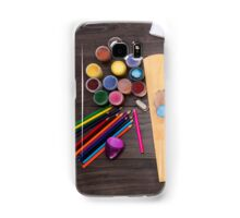 colored pencils paint brush  Samsung Galaxy Case/Skin