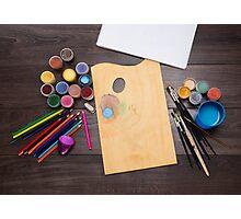 colored pencils paint brush  Photographic Print