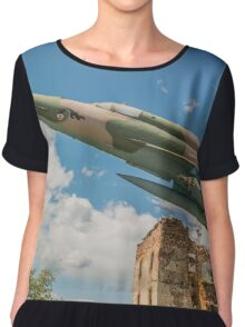 Military Jet Fighter Chiffon Top