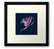Fairy Tail galaxy logo Framed Print