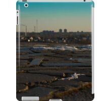 granite tiles and type of winter city  iPad Case/Skin