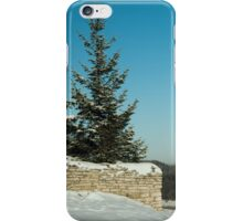 frosty winter day in the village  iPhone Case/Skin