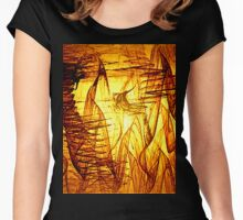 Abstract #15 Women's Fitted Scoop T-Shirt