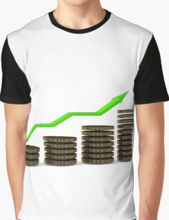 Business growth Chart bars  Graphic T-Shirt