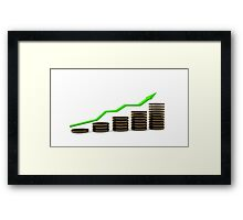Business growth Chart bars  Framed Print