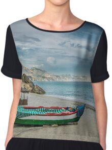 Beautiful deserted spanish beach Chiffon Top