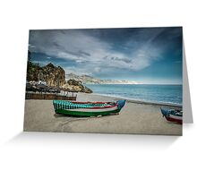Beautiful deserted spanish beach Greeting Card