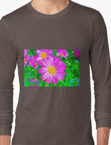 Colorful Daisies Long Sleeve T-Shirt