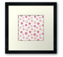 Simple cute pink pastel pattern Framed Print
