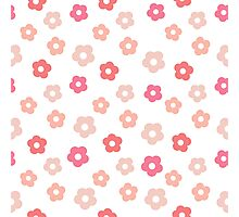 Simple cute pink pastel pattern Photographic Print