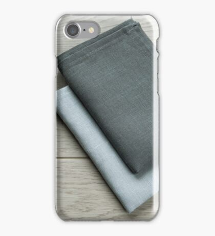 Manufactures industrial textile - grey towels pile  iPhone Case/Skin