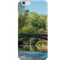 Newlay Top Weir and Pollard Bridge iPhone Case/Skin