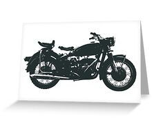 motorcycle, antique, vintage, classic, old, retro, cool, unique, biker, old biker, old. Greeting Card