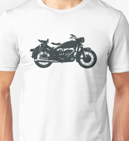 motorcycle, antique, vintage, classic, old, retro, cool, unique, biker, old biker, old. Unisex T-Shirt