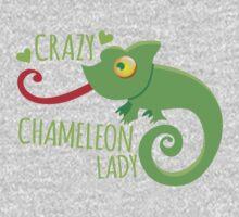 Crazy Chameleon lady One Piece - Long Sleeve