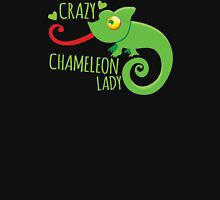 Crazy Chameleon lady Womens Fitted T-Shirt