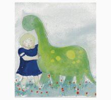 Lottie and her dinosaur One Piece - Short Sleeve