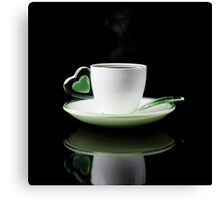 white Cup of coffee isolated  Canvas Print